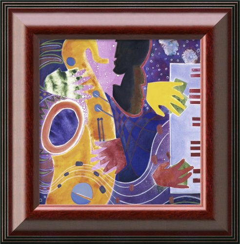 Piano Iii (With Horn) 1995 By Gil Mayers Framed Canvas