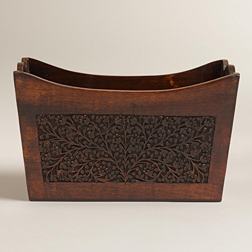Carved Wood Magazine Holder10