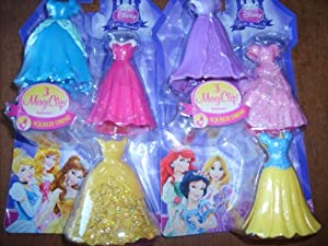 Disney Princess Little Kingdom MagiClip Fashion Set - 2 Sets of the 3 Dress Set for all 6 Princesses