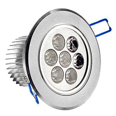 7W 3500K 600Lm 7-Led Warm White Light Ceiling Lamp W/ Driver - Silver (Ac 89~265V)