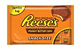 Reeses Peanut Butter Cups, Snack Size, 19.5 Ounce Bag