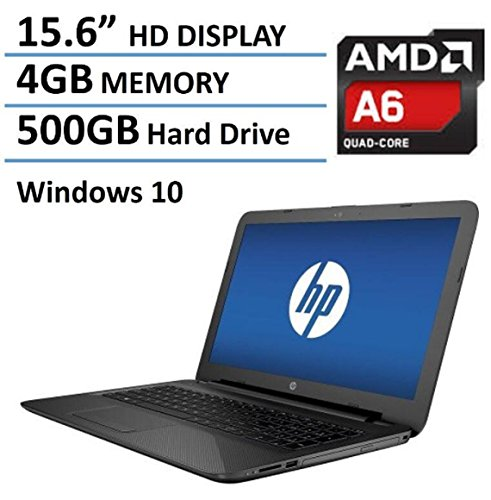 2016 Newest HP Pavilion 15.6″ Premium High Performance Laptop PC, AMD Quad-Core A6-5200 Processor, 4GB RAM, 500GB HDD, DVD+/-RW, Webcam, WIFI, HDMI, Windows 10