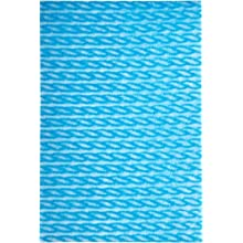 Brawny Dine-A-Wipe 29408 Blue and White 1/4 Fold Foodservice Busing Towel, 14&#034; Length x 21&#034; Width (Case of 6 Poly Packs, 55 per Pack)