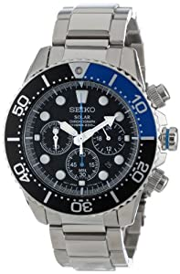 Seiko Men's SSC017 Solar Dive Chronograph Classic Solar Dive Chronograph Watch