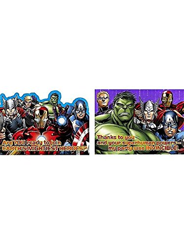 Avengers 'Assemble' Invitations & Thank You Cards w/ Envelopes (8ct each)