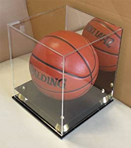 Collectible Deluxe Acrylic NBA - NCAA Size Basketball Display Case - With Mirror