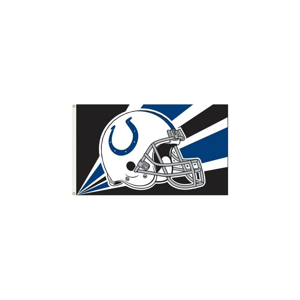 BSS   Indianapolis Colts NFL Helmet Design 3x5 Banner Flag