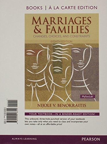 Marriages and Families Books a la Carte Plus NEW MySocLab with Pearson eText -- Access Card Package (8th Edition)