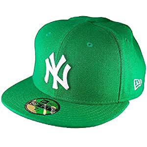 New Era NY Yankees & L.A. Dodgers MLB Basic Cap (6 7/8, 91194 kelly/white)