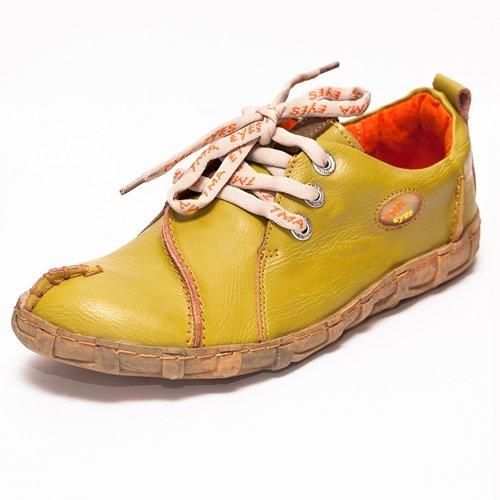 TMA EYES 2610 Schnürer Gr.36-42 mit bequemen perforiertem Fußbett 100% Leder 39.35 super leichter Schuh der neuen Saison. ATMUNGSAKTIV in Weiss, Schwarz, Rot,Braun,Grün oder Gelb
