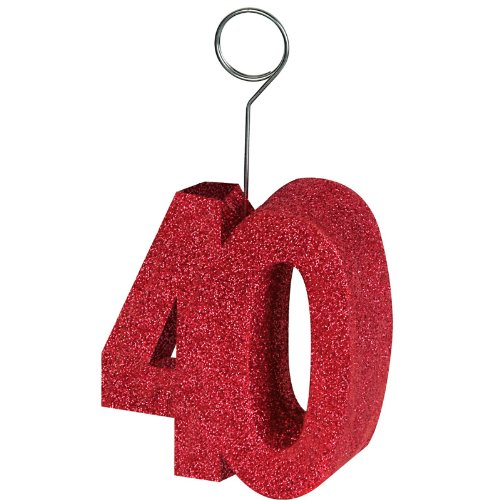 "Beistle 50751-40 Glittered ""40"" Photo Balloon Holder"