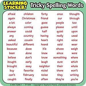 buy tricky words learning stickers book online at low