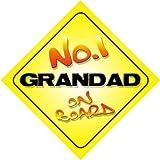 No.1 Grandad on Board Novelty Car Sign Novelty Gift / Present