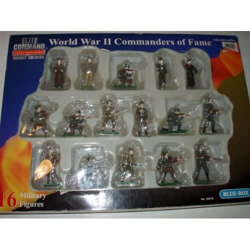 Command World War II Commanders of Fame Diecast Soldiers Toys & Games
