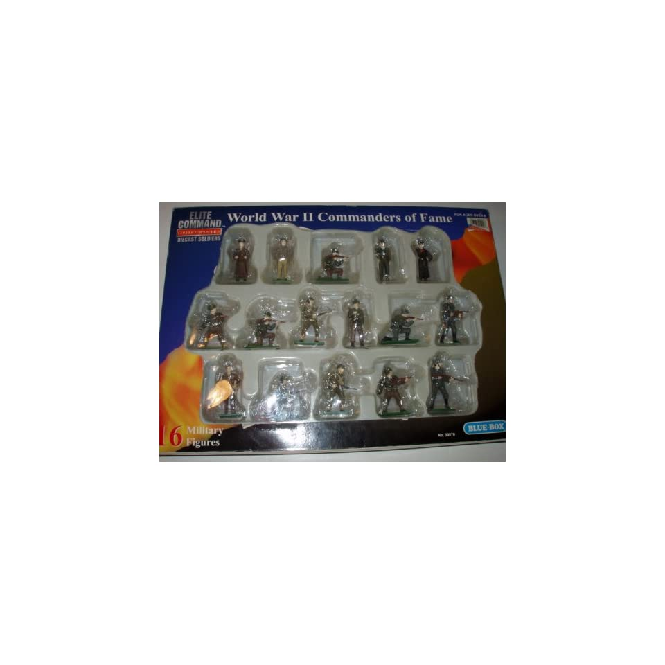 Command World War II Commanders of Fame Diecast Soldiers: Toys & Games