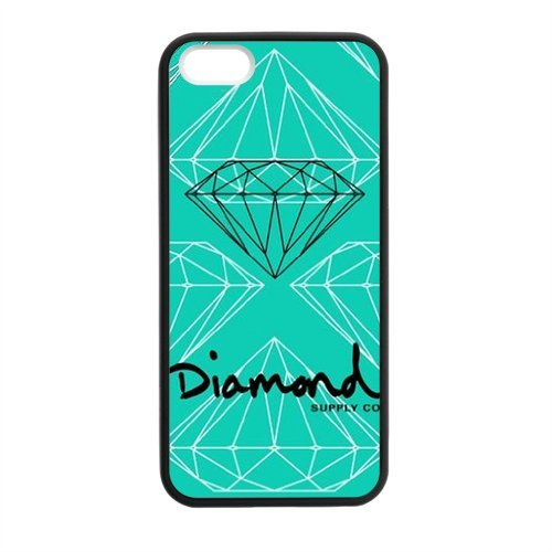 Laser New Technology-Custom Diamond Supply Co Cover Case for iPhone 5,5S TPU (Diamond Supply Co Cover compare prices)