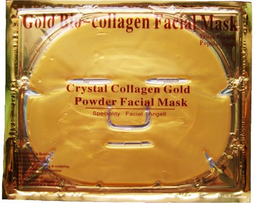 New Crystal 24K Gold Powder Gel Collagen Face Mask Masks Sheet Patch, Anti Ageing Aging, Skincare, Anti Wrinkle, Moisturising, Moisture, Hydrating, Uplifting, Whitening, Remove Blemishes & Blackheads Product. Firmer, Smoother, Tone, Regeneration Of Skin.