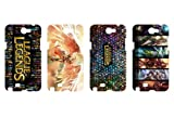 Wholesales 4pcs League of legends LOL Fashion Hard back cover skin case for samsung galaxy note n7100-n7ll4002