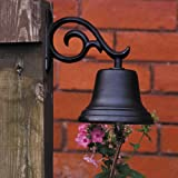 Whitehall Products, Medium Aluminum Bell 00614, 5 inches diameter with 6 inch bracket, black