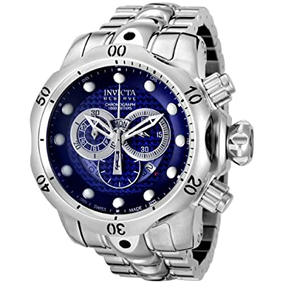 Invicta Men's 6717 Reserve Venom Collection Chronograph Blue Dial Stainless Steel Watch