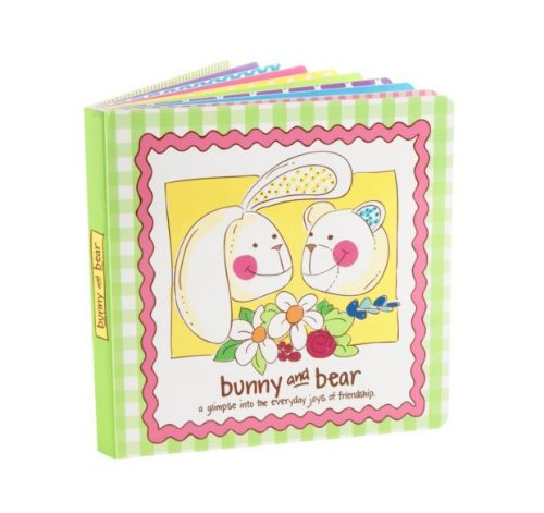 Vera Bradley Bunny & Bear Book - The Joys of Friendship Board Picture Book Illustrated by Joanie Hall - 1