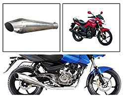 Vheelocityin 84102 Pipe Style B Motorcycle Exhaust for Hero Hunk