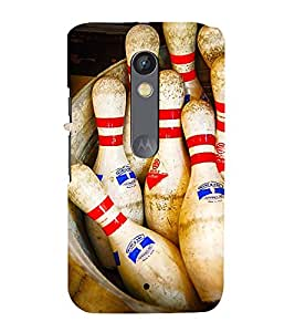 SKITTLES BOWLING PINS LYING IN A BARREL 3D Hard Polycarbonate Designer Back Case Cover for Motorola Moto X Play
