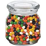 Jelly Beans in Pritchey Patio Glass Jar 8oz Trade Show Giveaway