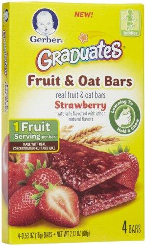 Gerber Graduates Fruit & Oat Bars - Strawberry