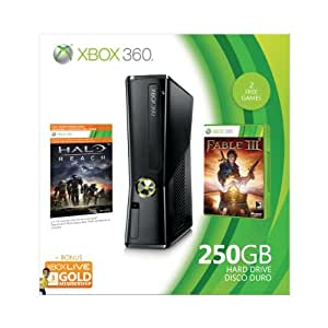 xbox 360 250gb holiday value bundle old model video games. Black Bedroom Furniture Sets. Home Design Ideas