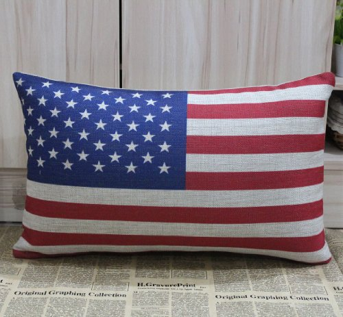 50*30Cm Usa National Flag American America The United States Of America Pillow Cases Cushion Covers front-622303