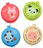Kotobuki Condiment Containers for Bento Box, Mini, Animal Friends