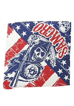 Sons of Anarchy Bandana (Standard)- Red/ Blue