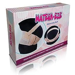 Matern-Eze Soft Maternity Back Brace Universal, Large, Black
