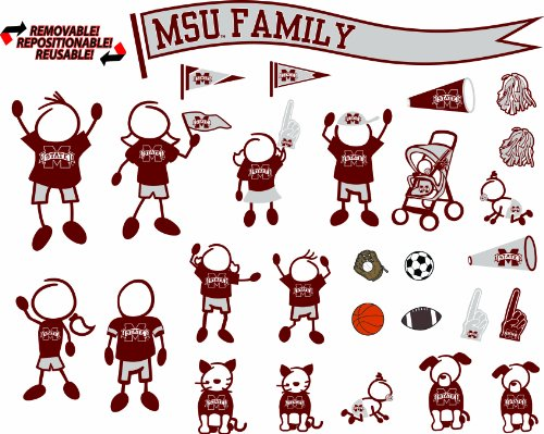NCAA Mississippi State Bulldogs Decal Family