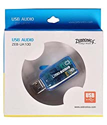Zebronics USB Sound Card - Plug & Play