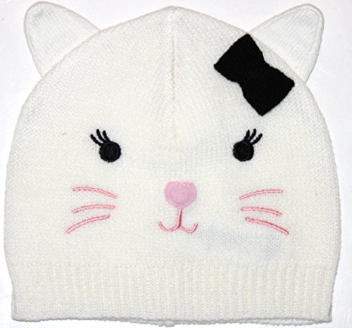 baby-gap-toddler-girls-12-18-24-mo-ivory-sweater-hat-with-cat-ears-and-face