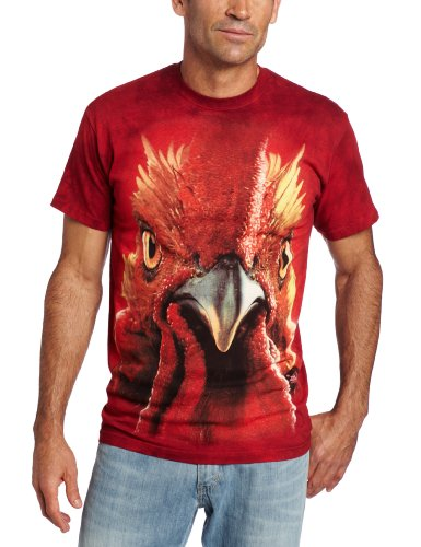 the-mountain-mens-rooster-head-t-shirt-red-large