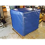 """Steel Guard Safety Insulated Pallet Cover, Vinyl - H- 48"""" x W- 40"""" x D- 48"""" - Energy Shield Insualted Vinyl Pallet Cover w/ Velcro Closures"""