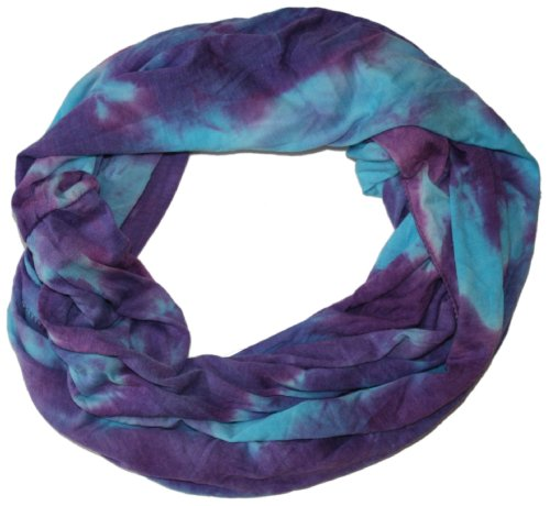 LibbySue-Summer Soft Tie Dye Eternity Scarf in Watercolors