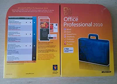 Office 2010 Professional Brand New Retail Sealed Can Work on 2pc (Disc Version)