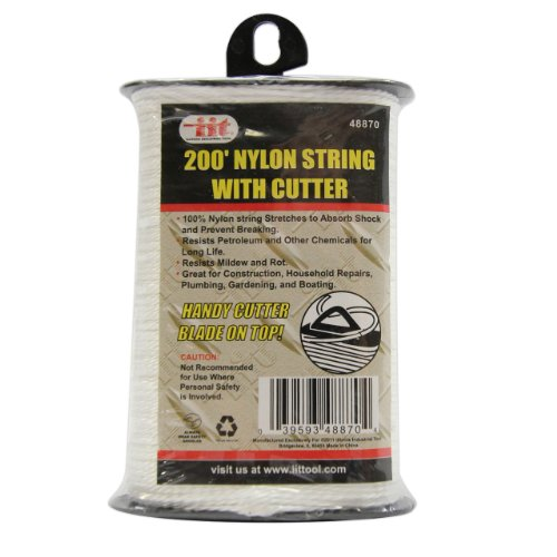IIT 48870 Nylon String with Built-In Cutter - 200 Feet