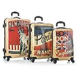 Heys Vintage Traveller-Paris, London & New York-3pc Set