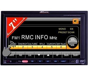 "Takara CDD1117 Autoradio Multimédia Ecran Tactile 7"" Puissance 240 W mp3 USB SD Carte FM Stereo Façade antivol"