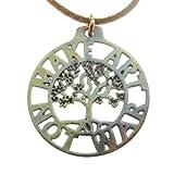 Make Art Not War Tree of Life Pendant Necklace (Iridescent)