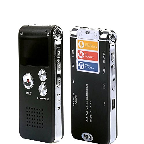 Digital-Audio-Voice-Recorder-Dictaphone-MP3-Player-8GB-650HR-Multifunctional-Rechargeable-Dictaphone-Player-with-Built-In-Speaker