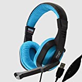 TECH-COM TTPL-HP-341 USB Surround Stereo Gaming Headset Headband Headphone With Mic For PC