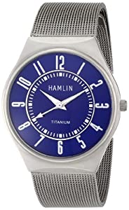 Hamlin Men's HAMM0314:003/04E92GT Ultra Thin Blue Dial Titanium Case Stainless Steel Mesh Band Watch