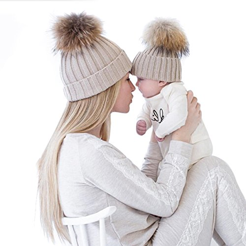paternity-child-baby-mother-hat-warmer-family-beanie-cap-oenbopo-2pcs-mother-baby-daughter-son-winte