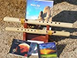 2 Unfinished A & G 6 hole Windpony flutes with book and 3 CDs Starter Set - Books and CDs